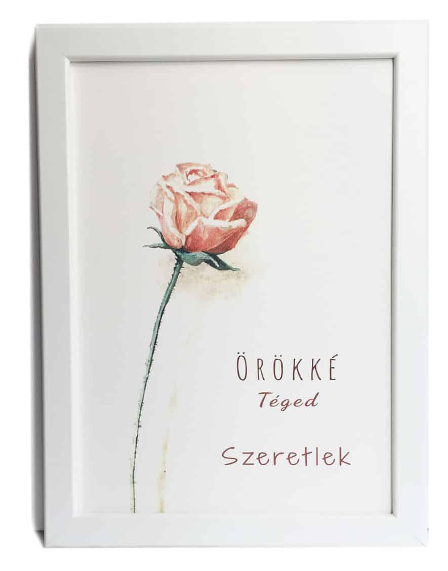"""""""Egy Szál Pink Rózsa"""" valentin napra"""
