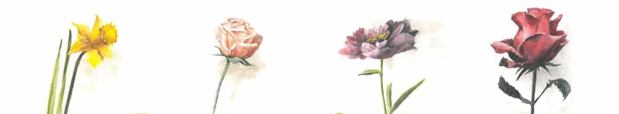 egy szal virag valentin nap festmeny